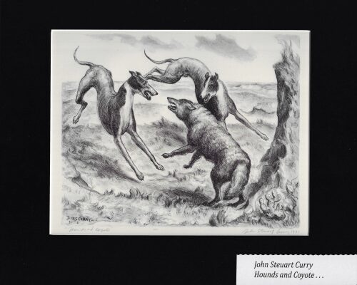 JOHN STEUART CURRY - HOUNDS AND COYOTE