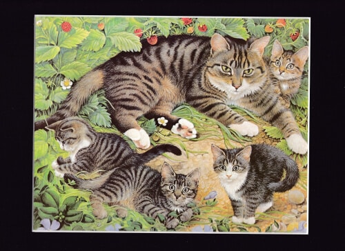 Agnethea and Kittens by Lesley Ann Ivory