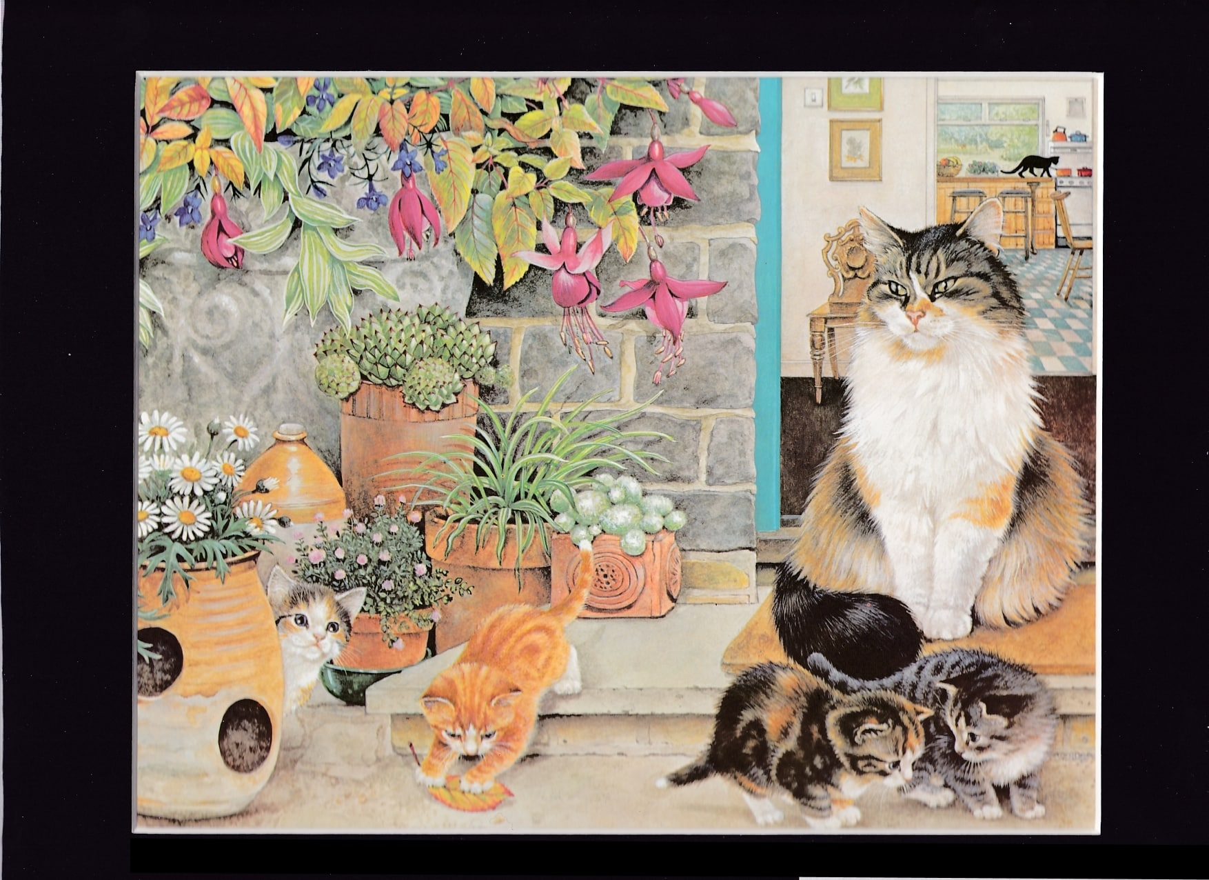 GEMMA-WITH-KITTENS- by Lesley Ann Ivory