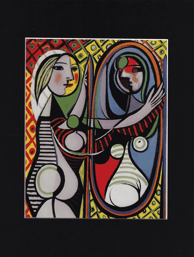 Young Girl at the Mirror by PABLO PICASSO (French School)